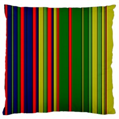 Hot Stripes Grenn Blue Large Flano Cushion Cases (Two Sides)  by ImpressiveMoments