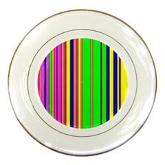 Hot Stripes Rainbow Porcelain Plates by ImpressiveMoments