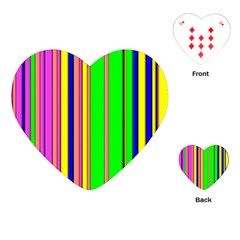 Hot Stripes Rainbow Playing Cards (heart)  by ImpressiveMoments