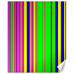 Hot Stripes Rainbow Canvas 16  X 20   by ImpressiveMoments