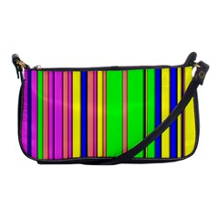Hot Stripes Rainbow Shoulder Clutch Bags by ImpressiveMoments