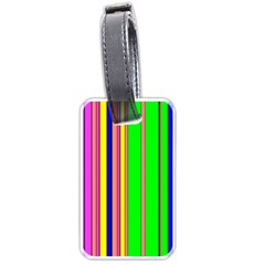 Hot Stripes Rainbow Luggage Tags (one Side)  by ImpressiveMoments