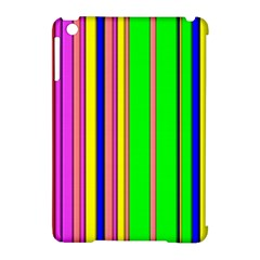 Hot Stripes Rainbow Apple Ipad Mini Hardshell Case (compatible With Smart Cover) by ImpressiveMoments