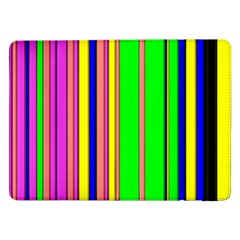 Hot Stripes Rainbow Samsung Galaxy Tab Pro 12.2  Flip Case by ImpressiveMoments