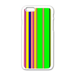 Hot Stripes Rainbow Apple Iphone 6 White Enamel Case by ImpressiveMoments