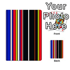 Hot Stripes Red Blue Multi Purpose Cards (rectangle)