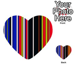 Hot Stripes Red Blue Multi Purpose Cards (heart)