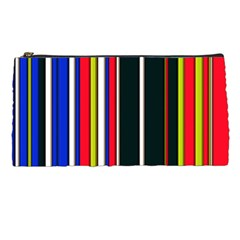 Hot Stripes Red Blue Pencil Cases by ImpressiveMoments