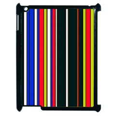 Hot Stripes Red Blue Apple Ipad 2 Case (black) by ImpressiveMoments