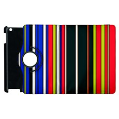 Hot Stripes Red Blue Apple Ipad 3/4 Flip 360 Case by ImpressiveMoments