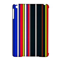Hot Stripes Red Blue Apple Ipad Mini Hardshell Case (compatible With Smart Cover) by ImpressiveMoments