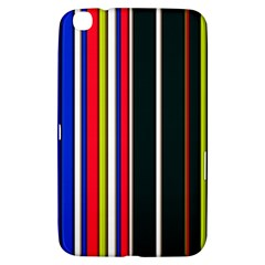 Hot Stripes Red Blue Samsung Galaxy Tab 3 (8 ) T3100 Hardshell Case  by ImpressiveMoments