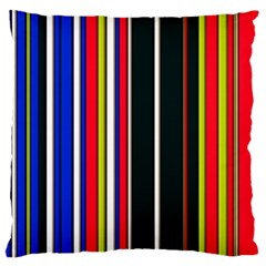 Hot Stripes Red Blue Large Flano Cushion Cases (two Sides)  by ImpressiveMoments