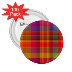 Plaid, Hot 2 25  Buttons (100 Pack)  by ImpressiveMoments