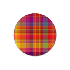 Plaid, Hot Magnet 3  (round) by ImpressiveMoments