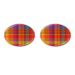 Plaid, Hot Cufflinks (oval) by ImpressiveMoments