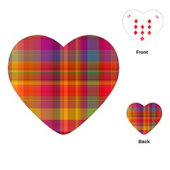 Plaid, Hot Playing Cards (heart)  by ImpressiveMoments