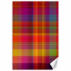 Plaid, Hot Canvas 24  X 36  by ImpressiveMoments