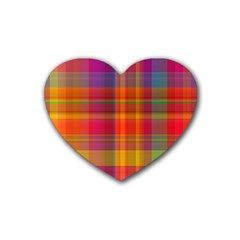Plaid, Hot Heart Coaster (4 Pack)