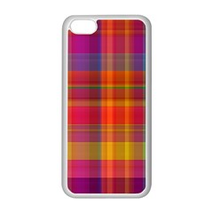 Plaid, Hot Apple Iphone 5c Seamless Case (white) by ImpressiveMoments