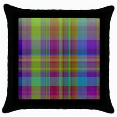 Plaid, Cool Throw Pillow Cases (black) by ImpressiveMoments