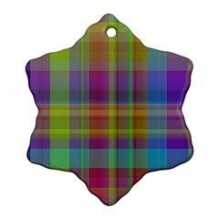 Plaid, Cool Ornament (snowflake)  by ImpressiveMoments