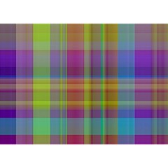 Plaid, Cool Birthday Cake 3d Greeting Card (7x5)  by ImpressiveMoments