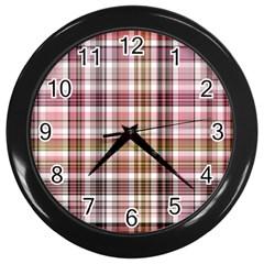 Plaid, Candy Wall Clocks (black) by ImpressiveMoments
