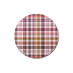 Plaid, Candy Magnet 3  (round) by ImpressiveMoments