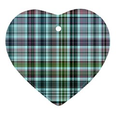 Plaid Ocean Ornament (heart)  by ImpressiveMoments