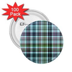 Plaid Ocean 2 25  Buttons (100 Pack)  by ImpressiveMoments
