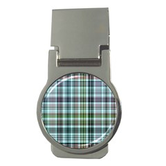 Plaid Ocean Money Clips (round)  by ImpressiveMoments