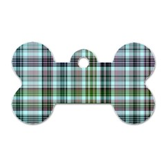 Plaid Ocean Dog Tag Bone (Two Sides) by ImpressiveMoments