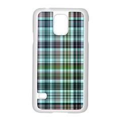 Plaid Ocean Samsung Galaxy S5 Case (white) by ImpressiveMoments