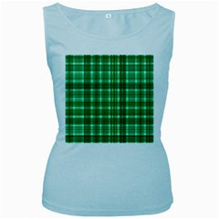 Plaid Forest Women s Baby Blue Tank Tops by ImpressiveMoments