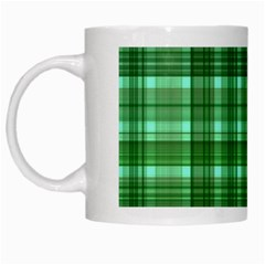 Plaid Forest White Mugs
