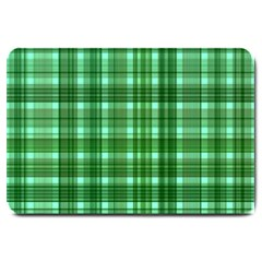 Plaid Forest Large Doormat  by ImpressiveMoments