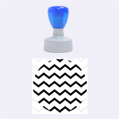Chevron Blue Rubber Round Stamps (medium) by ImpressiveMoments
