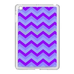 Chevron Blue Apple iPad Mini Case (White) by ImpressiveMoments