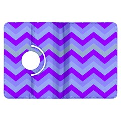 Chevron Blue Kindle Fire HDX Flip 360 Case by ImpressiveMoments