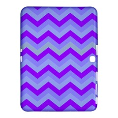 Chevron Blue Samsung Galaxy Tab 4 (10.1 ) Hardshell Case  by ImpressiveMoments