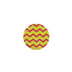 Chevron Yellow Pink 1  Mini Buttons by ImpressiveMoments