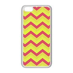 Chevron Yellow Pink Apple Iphone 5c Seamless Case (white) by ImpressiveMoments