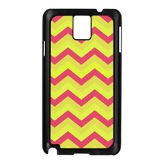 Chevron Yellow Pink Samsung Galaxy Note 3 N9005 Case (black) by ImpressiveMoments