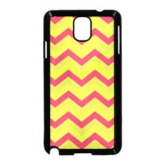 Chevron Yellow Pink Samsung Galaxy Note 3 Neo Hardshell Case (black) by ImpressiveMoments