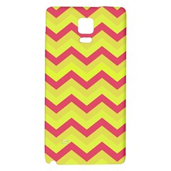 Chevron Yellow Pink Galaxy Note 4 Back Case by ImpressiveMoments