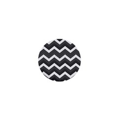 Chevron Dark Gray 1  Mini Buttons by ImpressiveMoments