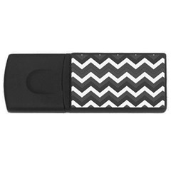 Chevron Dark Gray Usb Flash Drive Rectangular (4 Gb)  by ImpressiveMoments