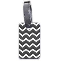 Chevron Dark Gray Luggage Tags (two Sides)
