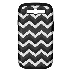 Chevron Dark Gray Samsung Galaxy S Iii Hardshell Case (pc+silicone) by ImpressiveMoments